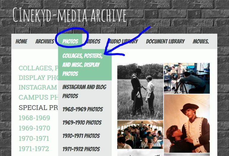 photos menu
